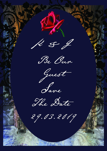 Scented Beauty And The Beast Wedding Stationery - ash-dove