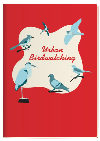 The Unemployed Philosopher's Guild Urban Bird Watching  Notebook - ash-dove