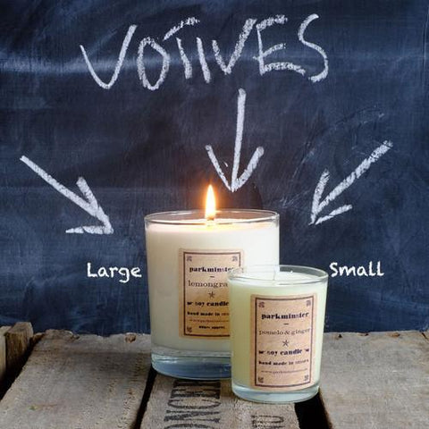 Parkminster Small Soy Votive Candle Range - Lemon Grass - ash-dove
