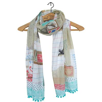 Bon Voyage World Scarf by Disaster Designs - ash-dove