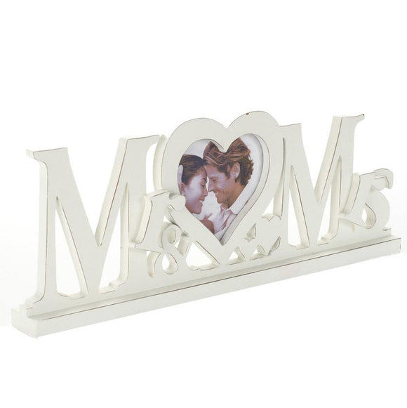 Heaven Sends Mr & Mrs Heart Wedding Photo Frame - ash-dove