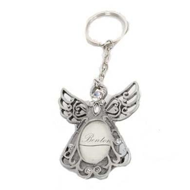 Heaven Sends Pewter Angel Key Ring in a Gift Box - ash-dove
