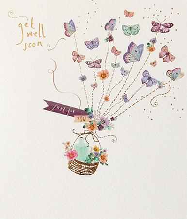 PaperLink Greeting Card Get Well Soon - ash-dove