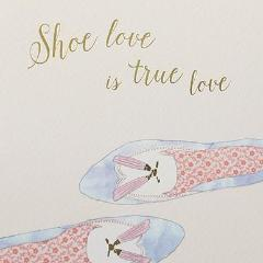 Paperlink Shoe Love is True Love Greeting Card - ash-dove