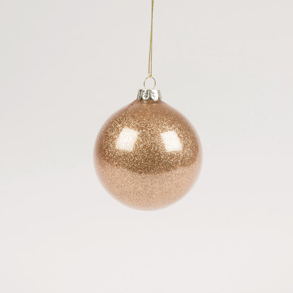 Copper Glitter Glass Christmas Bauble by Sass & Belle - ash-dove
