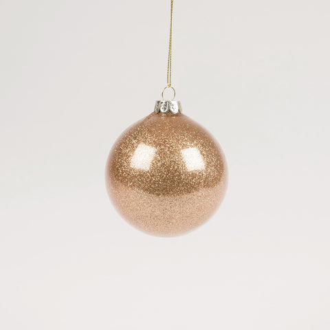 Copper Glitter Glass Christmas Bauble by Sass & Belle - Ash & Dove