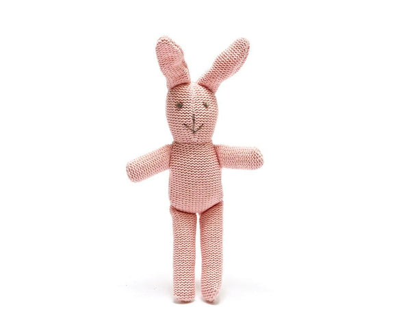 Best Years Pink rattle bunny - ash-dove