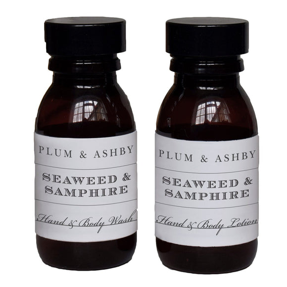 Plum and Ashby Travel Size Seaweed and Samphire Hand & Body Lotion - ash-dove