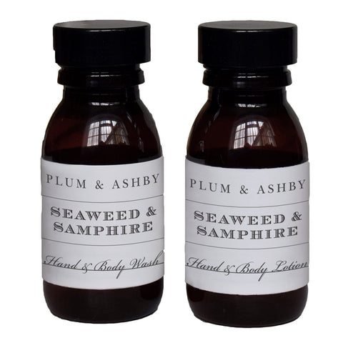Plum and Ashby Travel Size Seaweed and Samphire Hand & Body Wash - ash-dove