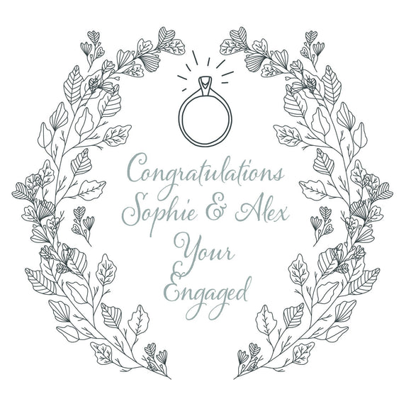 Personalised Engagement Ring Card by Ash & Dove - ash-dove
