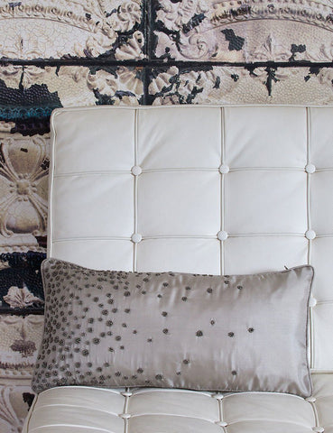 Beaded Scatter Cushion by Retreat Home - ash-dove