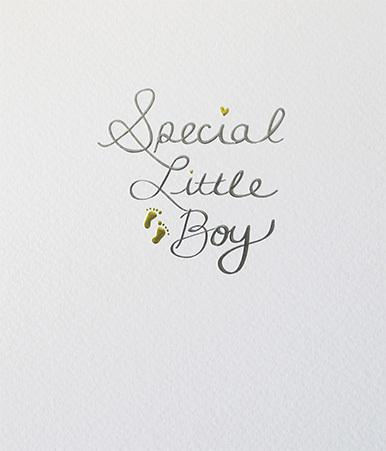 Paperlink Special Little Boy Greeting Card - ash-dove