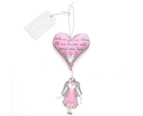 Heart and angel hanging blessing