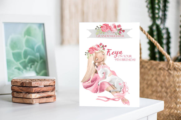 Personalised Ballerina Granddaughter Birthday Card Greeting Cards Ash & Dove