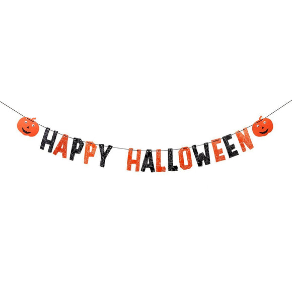 Halloween Bunting Decoration by Sass & Belle - ash-dove