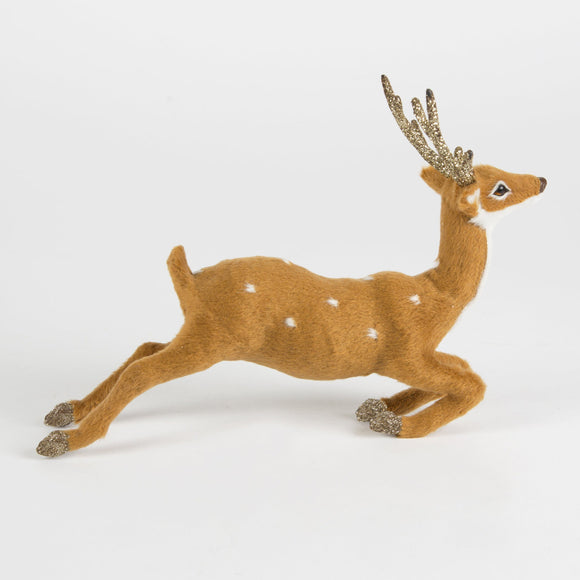Horace the Bounding Stag with Glitter Antlers Decoration by Sass & Belle - ash-dove