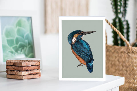 Kingfisher Greeting Card Greeting Cards The Artfile