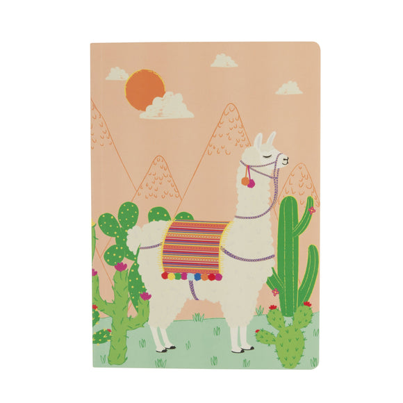 Llama Notebook A5 Sass & Belle - ash-dove