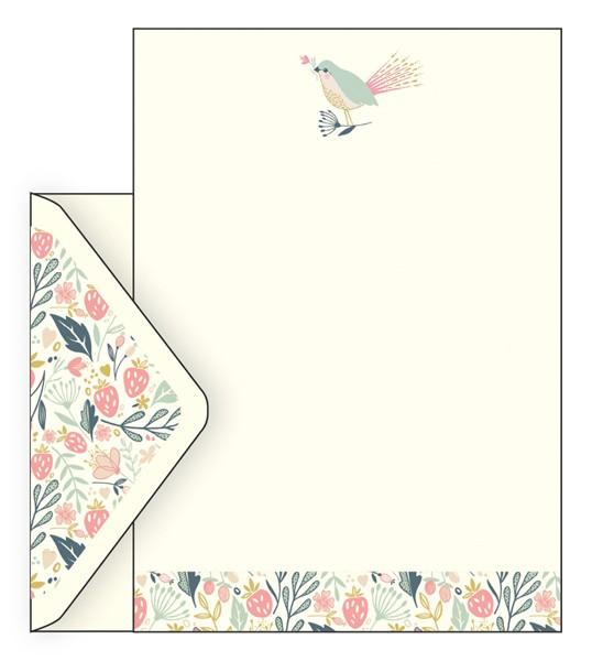 The Artfile Wild Berry Letter Set - ash-dove