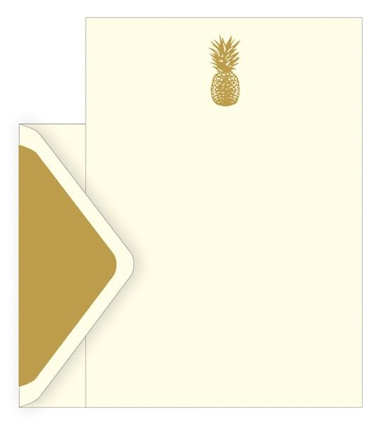 The Artfile Pineapple Boxed Letter Set - ash-dove