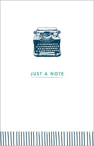 The Artfile Just a Note Typewriter Note Card Boxed Set - ash-dove