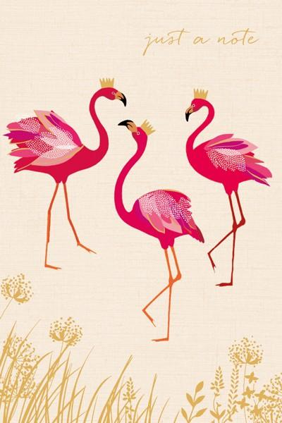 The Artfile Just a Note Flamingos Note Card Boxed Set - ash-dove