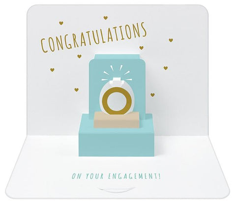 The Artfile Congratulations on your Engagement Form Pop Up Greeting Card - ash-dove