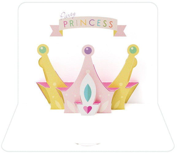 The Artfile Party Princess Form Pop Up Greeting Card - ash-dove