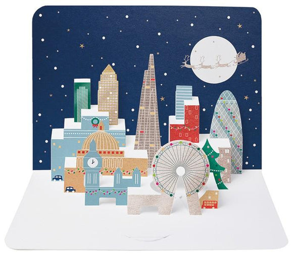 The Artfile Christmas London Skyline form Pop Up Greeting Card - ash-dove