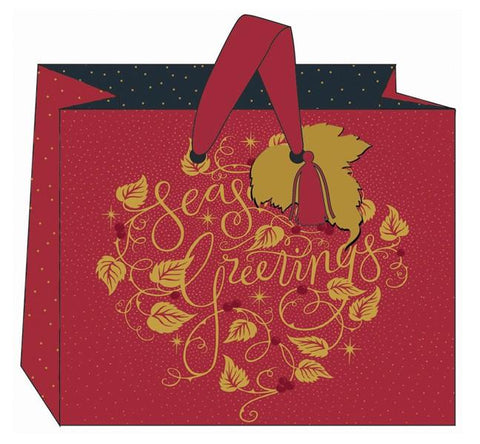 The Art File Landscape Seasons Greetings Christmas Gift Bag - ash-dove