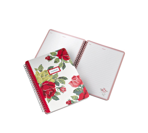 Cath Kidston Royal Rose Notebook - ash-dove