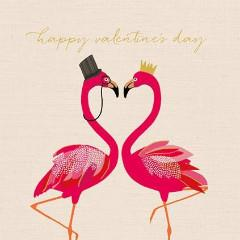 Flamingo Valentines Card by the Artfile - ash-dove