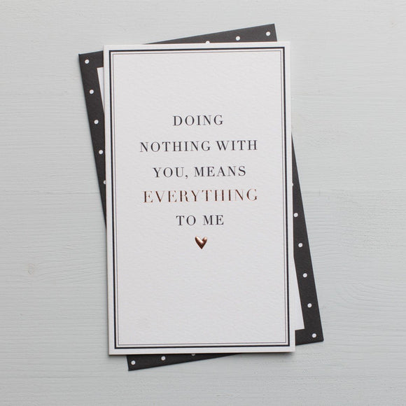 doing nothing with you card
