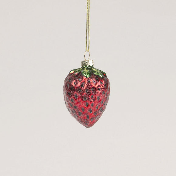 Strawberry Glass Bauble by Sass and Belle