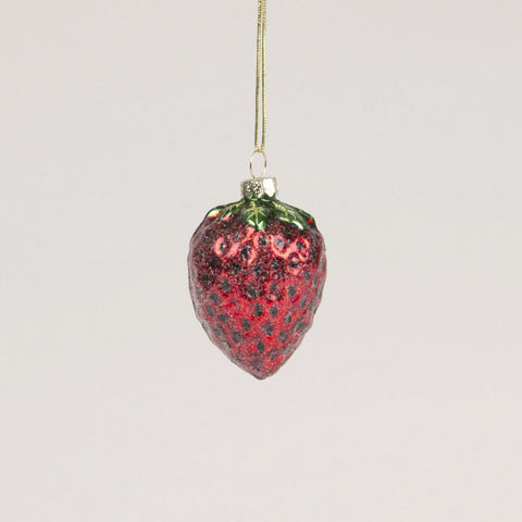 Strawberry Glass Bauble by Sass and Belle - ash-dove