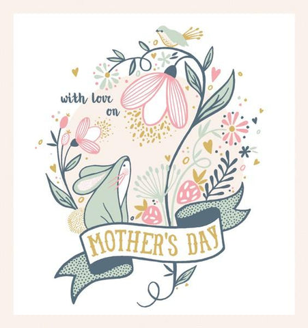With Love On Mothers Day Card by The Artfile - ash-dove