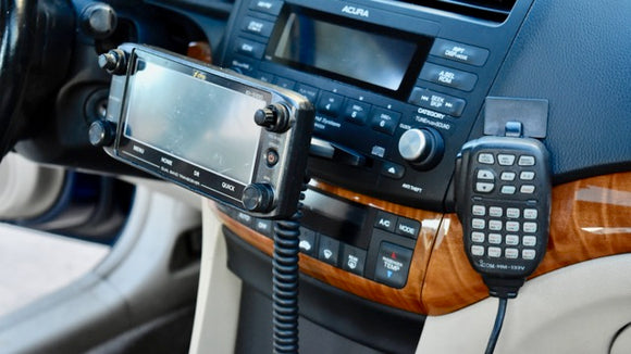 New Icom ID-5100 and IC-2730 Dash Mount With Mic Hanger