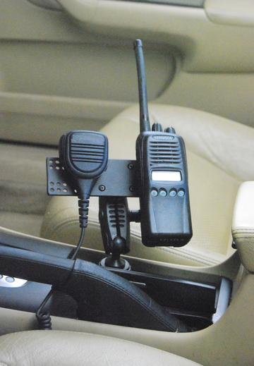 Cup Holder Mount For All Kenwood Portables With Microphone Hanger