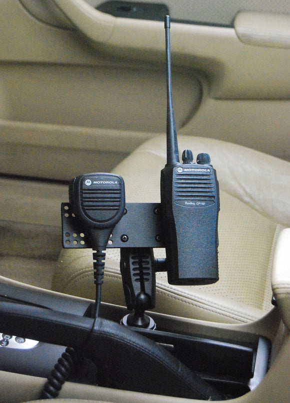 Cup Holder Mount For All Two-Way Radio Portables With Microphone Hanger
