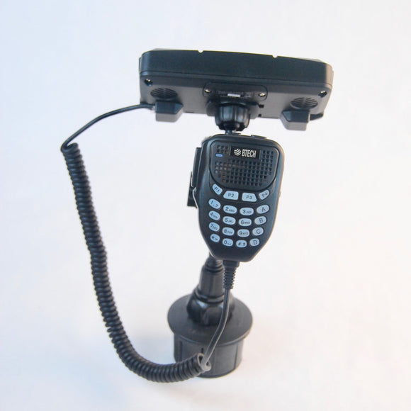 Cup Holder Mount For New BTECH UV-50X3 Mobile With Mic Hanger
