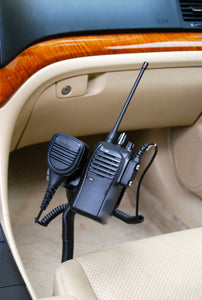 Seat Bolt Mount With Mic Holder For All Icom Portables