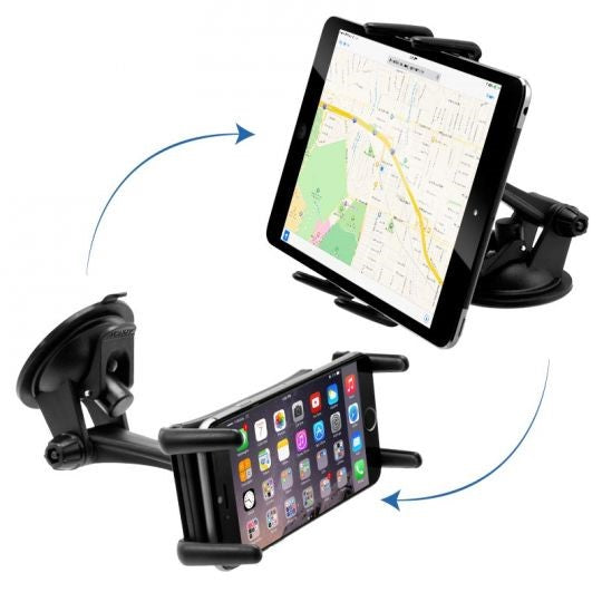 Slim-Grip Ultra Sticky Suction Windshield or Dash Phone Car Mount for iPhone 8 Plus, Galaxy Tablets