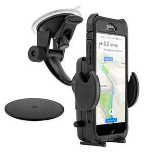 Mega Grip Windshield or Dash Phone Car Holder Mount for iPhone X, 8, 7 Plus, 8, 7, 6S Galaxy Note
