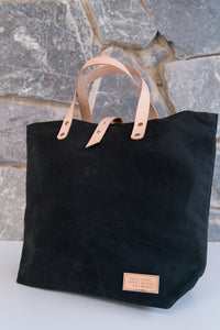 Waxed canvas & leather Growler Tote