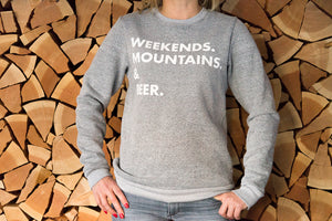 Crewneck Sweatshirt (Unisex) - Weekends