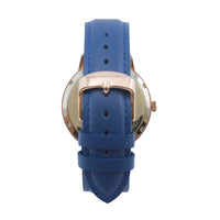 The 41mm Rose gold Frog Navy blue