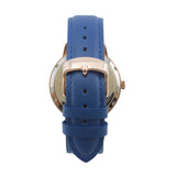 The 38mm Rose gold Butterfly Navy blue
