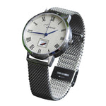 The 41mm Silver Butterfly Mesh