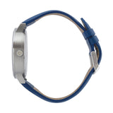 The 38mm Silver Butterfly Navy blue