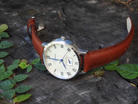 The 41mm Silver Frog Tan